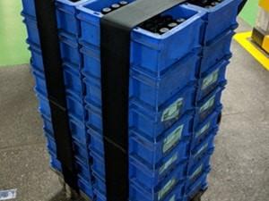 Pallet Straps - Palletization of Bins/Boxes